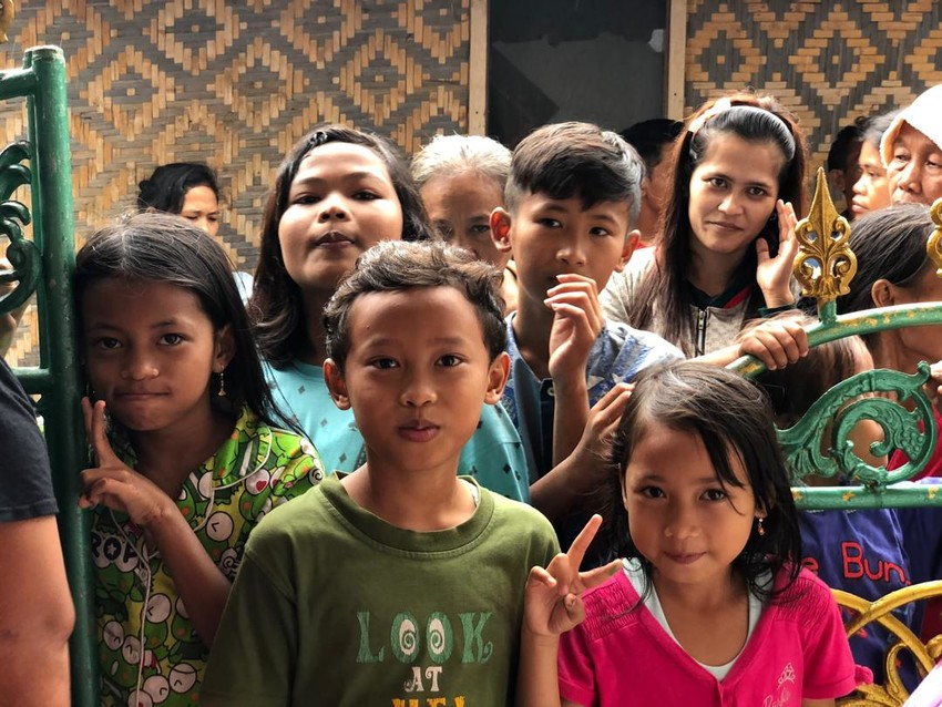 Orphan children in indonesia after the tsunami 2004.