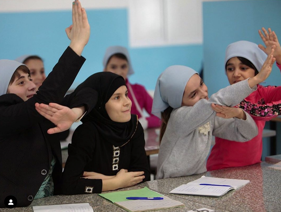 Islamic Relief beneficiaries, girls in a classroom setting