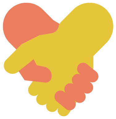 Hands forming heart - charity