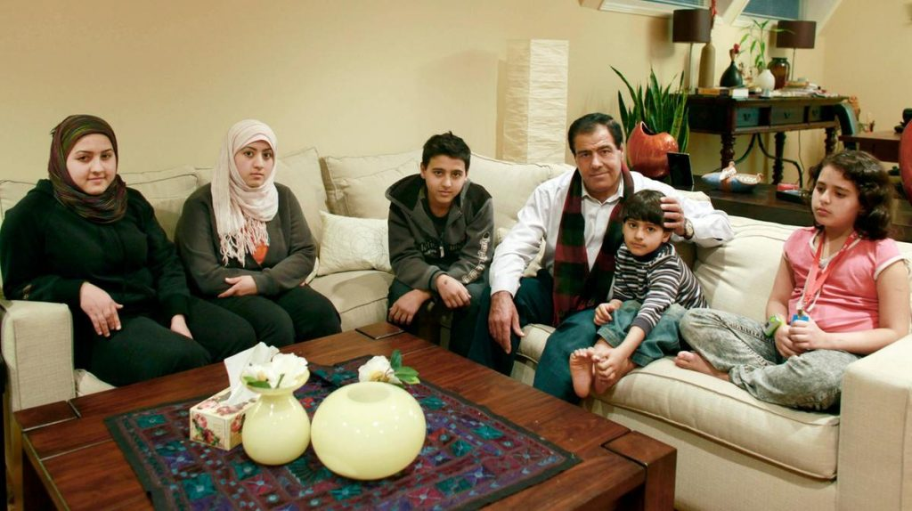 Dr. Abuelaish with his family - facts about palestine